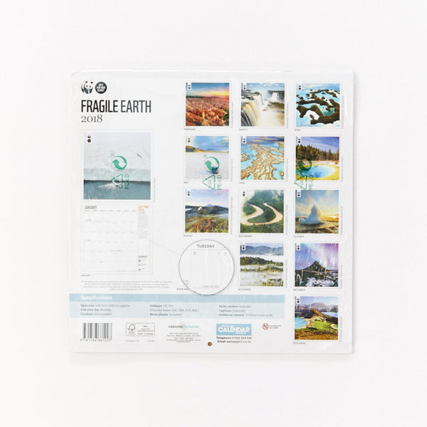 Fragile Earth Wall Calendar 2018