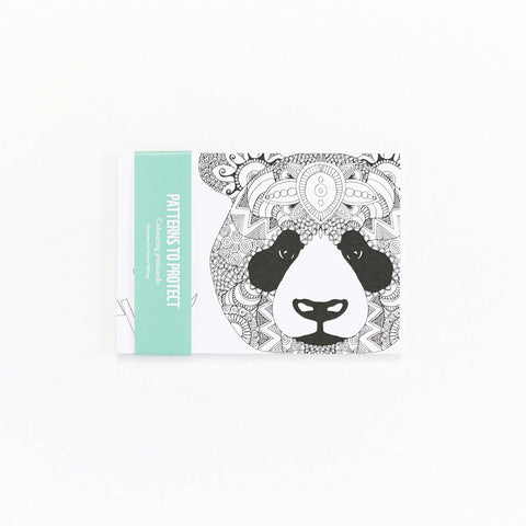 Panda Colouring Postcards