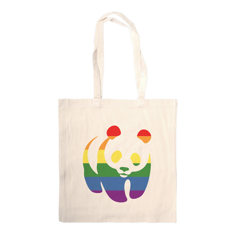 Rainbow Panda Tote Bag