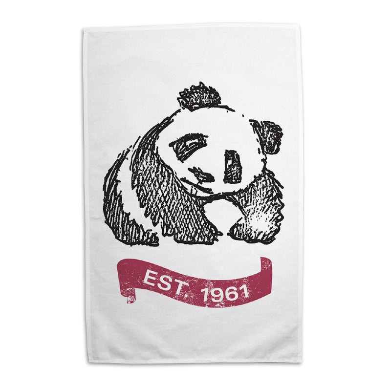 WWF 60th Anniversary Panda Tea Towel