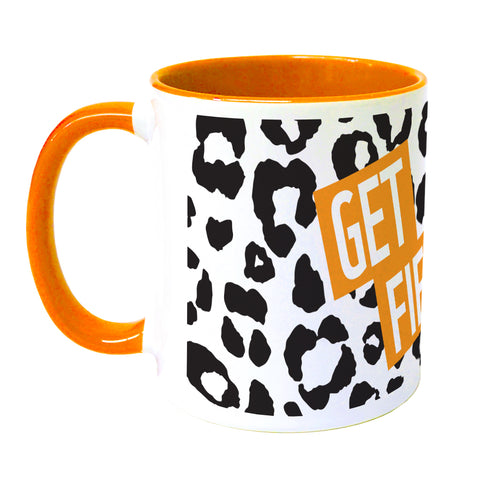 Get Fierce Leopard Print Coloured Insert Mug
