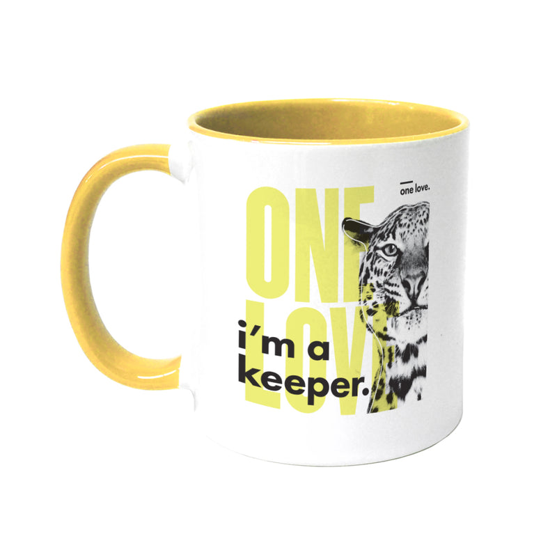 Lydia French 'One Love' Coloured Mug
