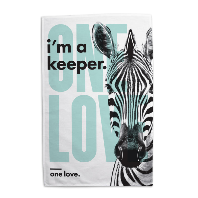 Lydia French 'One Love' Tea Towel