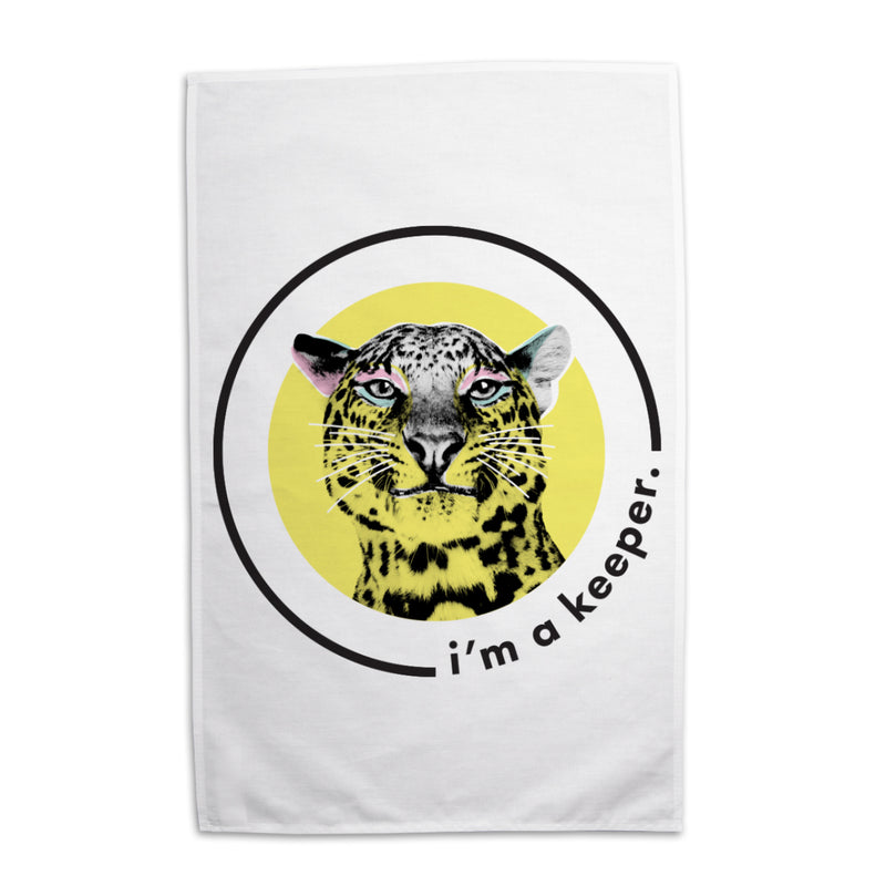 Lydia French 'I'm a Keeper' Tea Towel