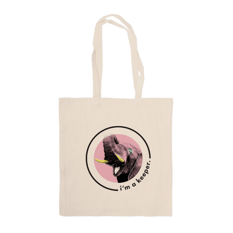 Lydia French 'I'm a Keeper' Tote Bags