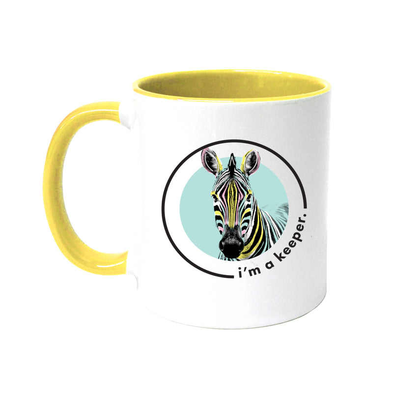 Lydia French 'I'm a Keeper' Coloured Mug