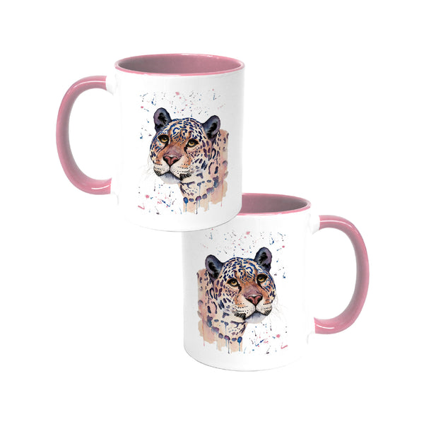 Elizabeth Grant Jaguar Coloured Mug