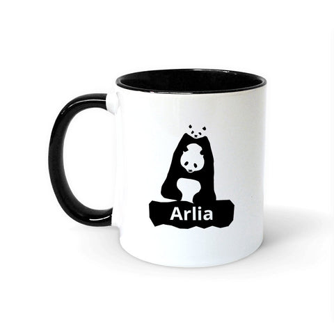 Personalised Panda Font Colour Insert Mug