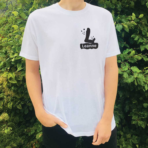 Personalised Organic T-shirt - Letter L