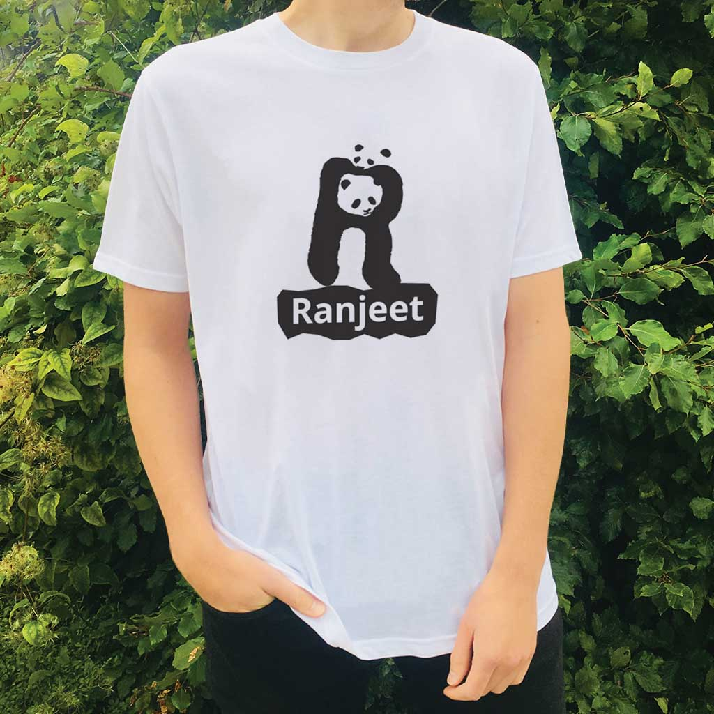 Personalised Organic T-shirt - Letter R