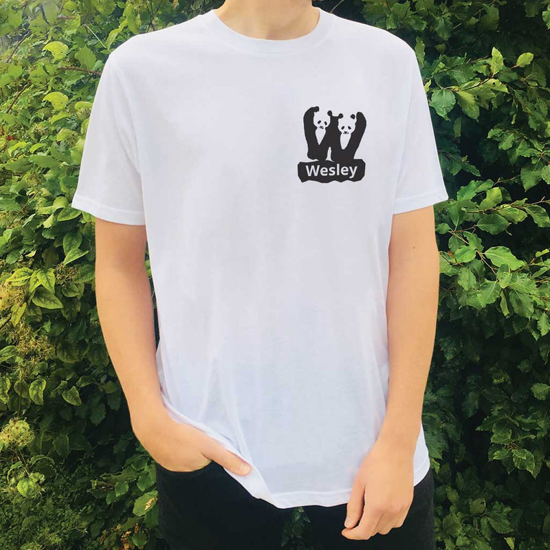 Personalised Organic T-shirt - Letter W