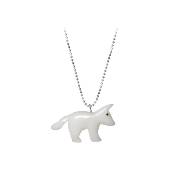 Arctic Fox Necklace