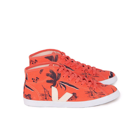 Veja Mid Canvas Amazon Clementine Ecru