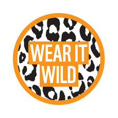 Wear It Wild Sew on Badge - Leopard