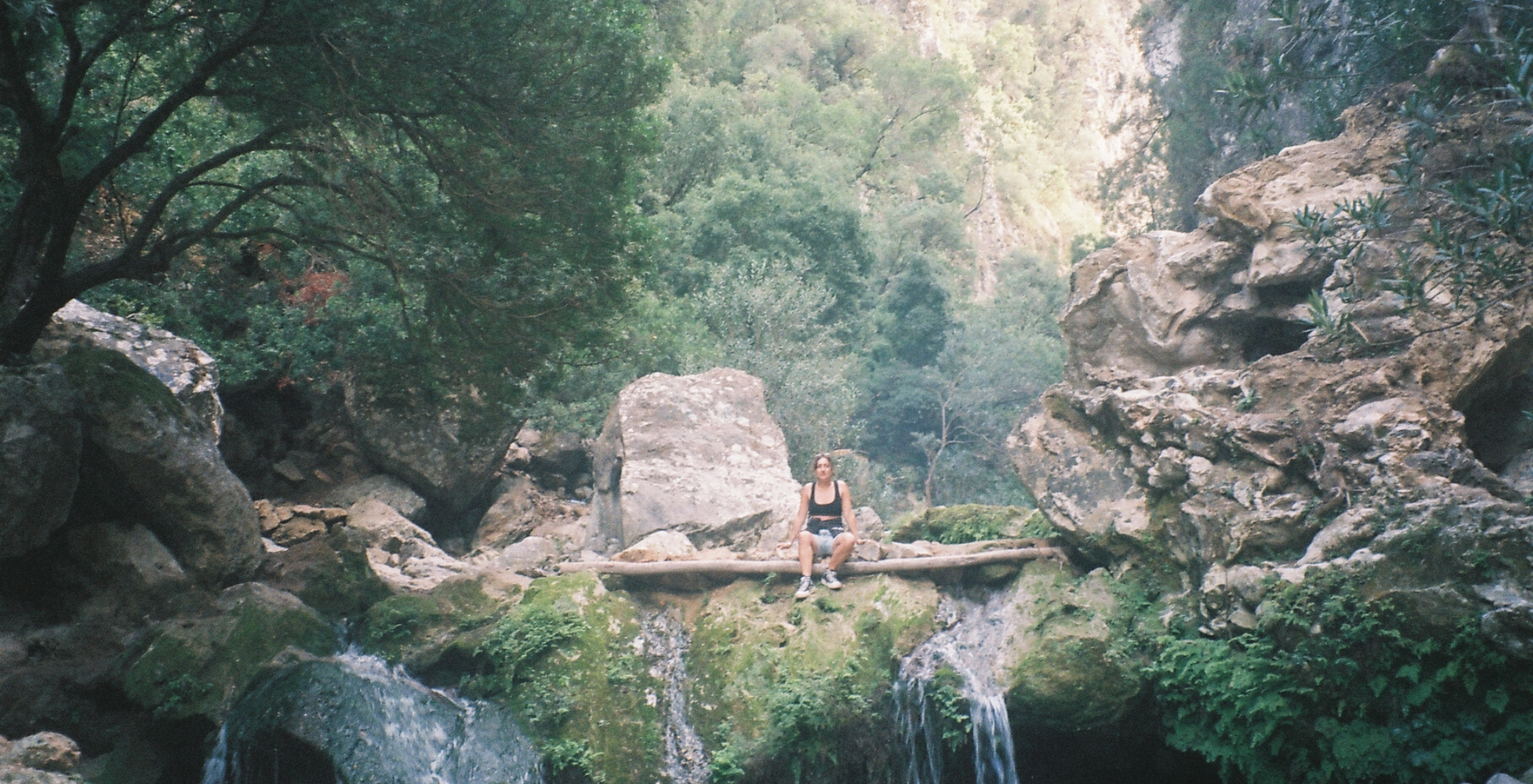 Morocco on film, hiking to Gods Bridge