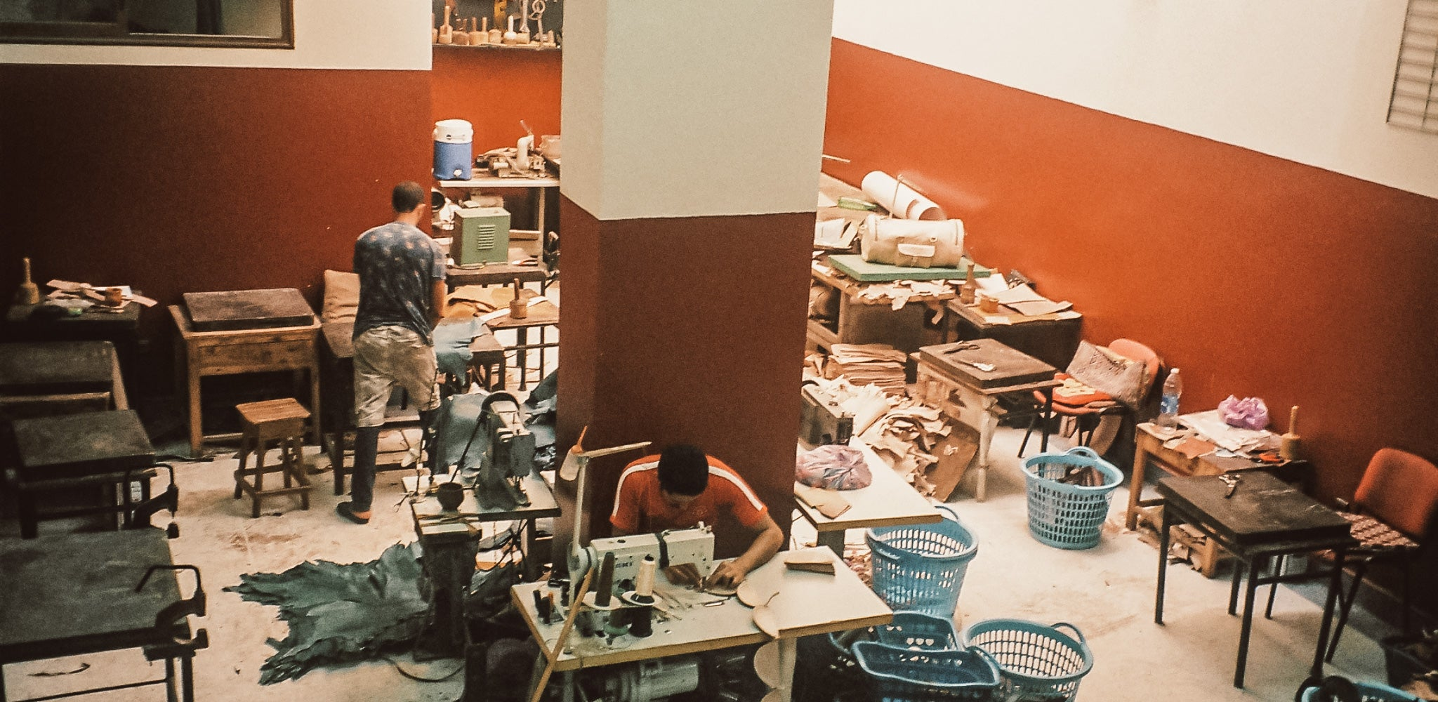 Our Moroccan Leather artisans in Marrakech