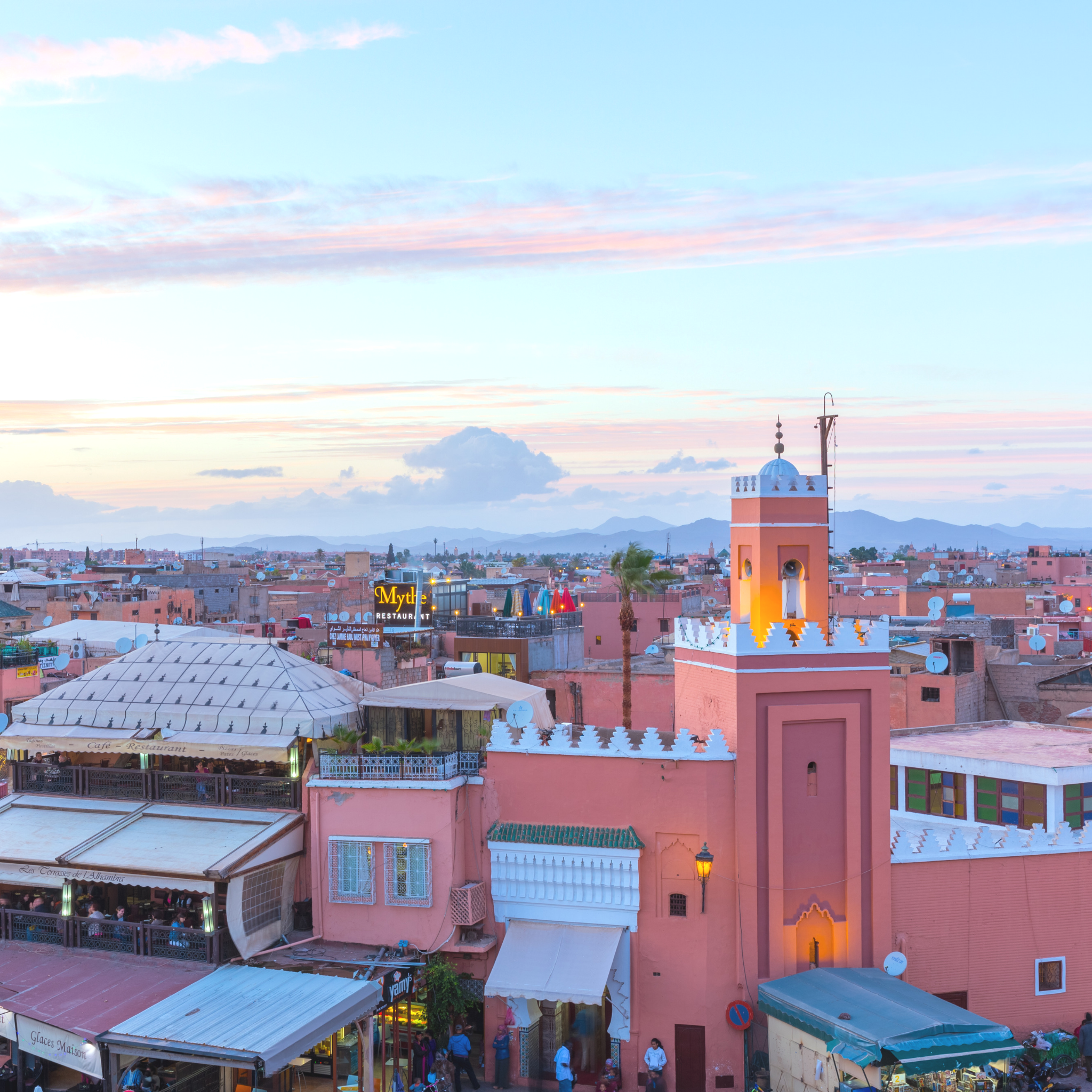 5 Places to visit in Marrakech Moroccan Terrace