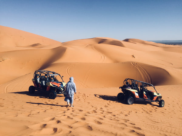 catching the desert buggy in the sahara