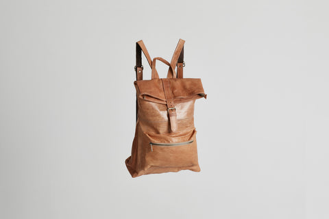 Rivers Backpack ethically handmade Moroccan leather backpack