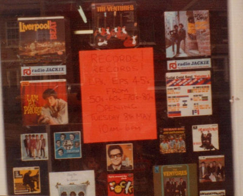 Shop front of Memory Lane Records in Molden