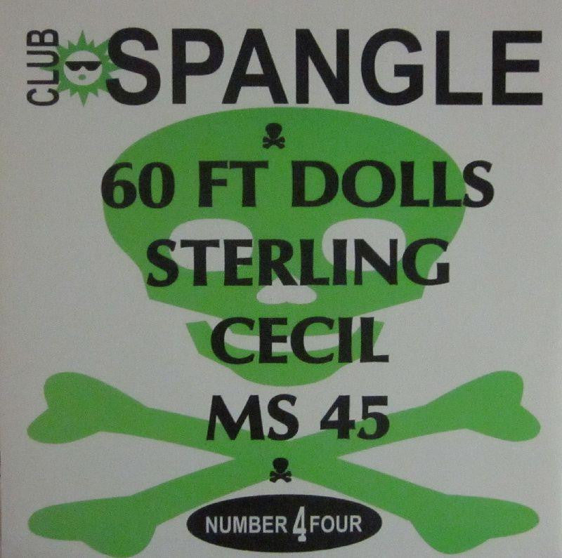 "60ft Dolls-DR Rat/Chelsea Hotel/Upside Down Smile/Insufferable-Club Spangle-7"" Vinyl"