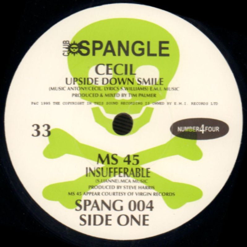 "DR Rat/Chelsea Hotel/Upside Down Smile/Insufferable-Club Spangle-7"" Vinyl-NM/NM"