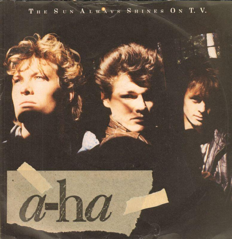 "A-Ha-The Sun Always Shines On T.V-Warner-7"" Vinyl P/S"