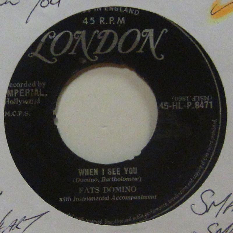 "Fats Domino-When I See You-London-7"" Vinyl"