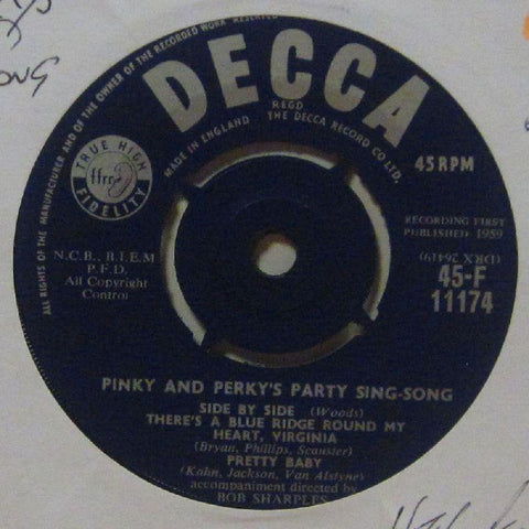 "Pinky & Perky-Party Sing-Song Part II-Decca-7"" Vinyl"
