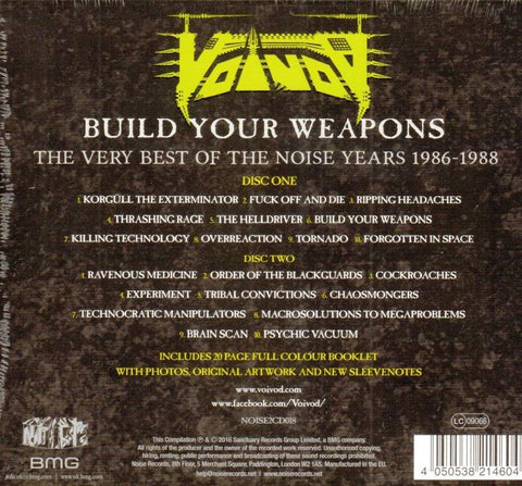 Build Your Weapons The Very Best Of The Noise Years 1986-1988-Noise-2CD Album-New & Sealed
