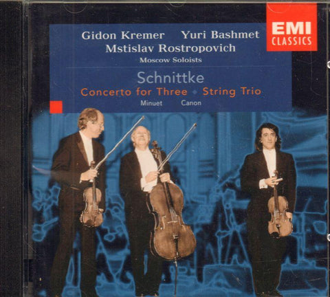 Alfred Schnittke and Alban Berg-Concerto For Three/ String Trio-CD Album