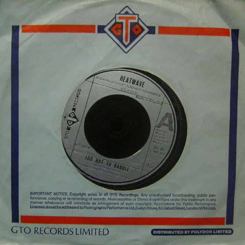 "Heatwave-Too Hot To Handle-GTO-7"" Vinyl"
