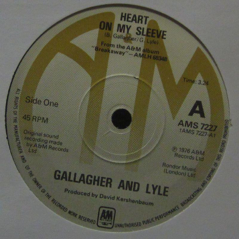 "Gallagher And Lyle-Heart On My Sleeve-A & M-7"" Vinyl"