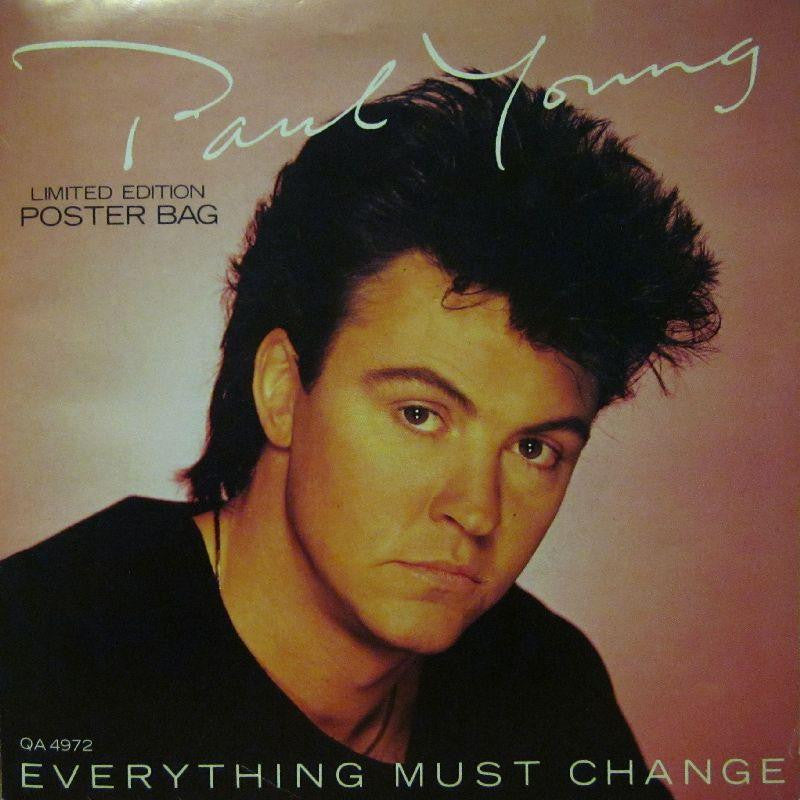 "Paul Young-Everything Must Change-CBS-7"" Vinyl P/S"
