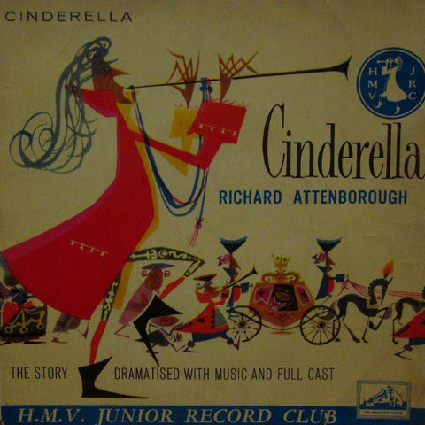 "Richard Attenborough-Cinderella-HMV-7"" Vinyl"