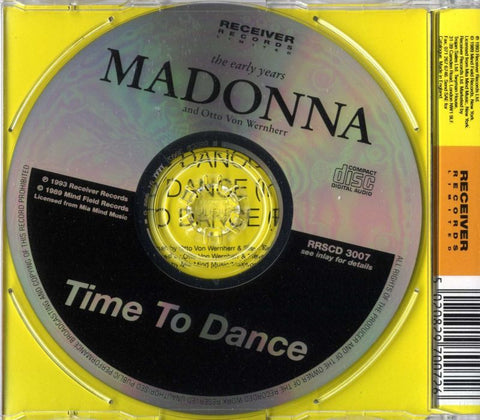 Madonna-Time To Dance-Receiver-CD Single-New & Sealed