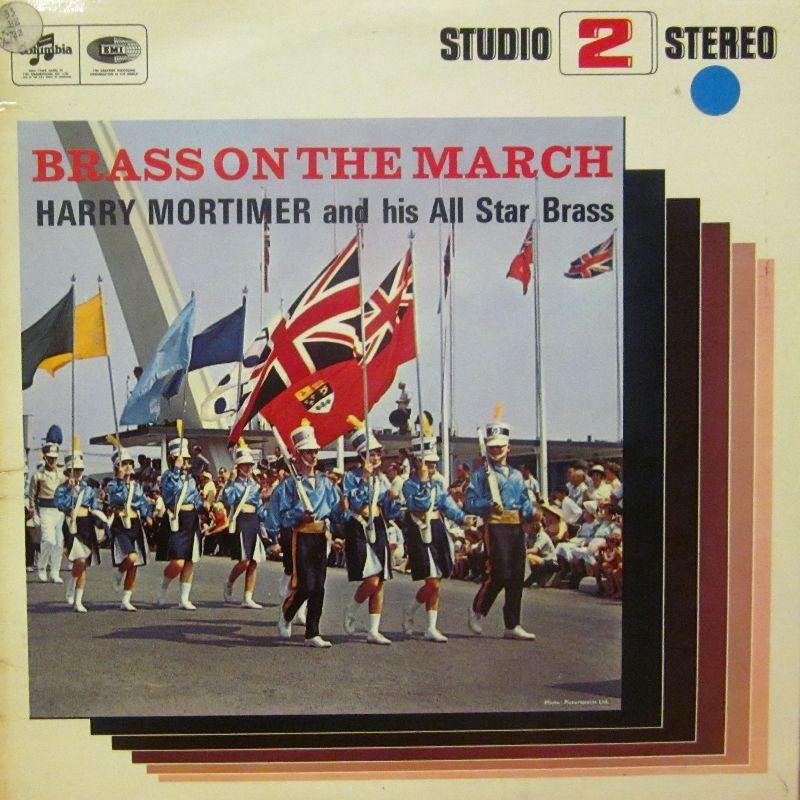 Harry Mortimer & His All Star Brass-Brass On The March-Columbia-Vinyl LP
