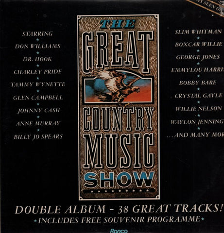 "The Great Country Music Show-Ronco-2x12"" Vinyl LP Gatefold"