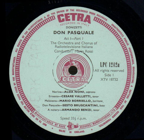 "Don Pasquale-Cetra-2x12"" Vinyl LP Box Set-VG/VG+"