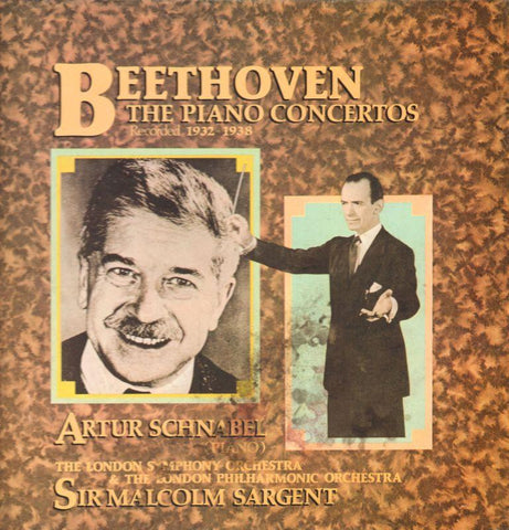 "Beethoven-Piano Concertos Artur Schanabel-World Records-4x12"" Vinyl LP Box Set"