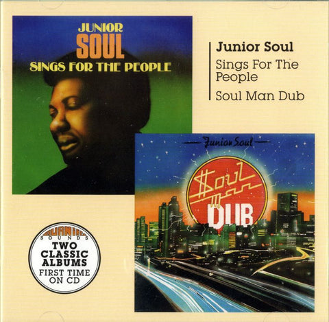 Junior Soul-Sings For The People/ Soul Man Dub-Burning Sounds-2CD Album
