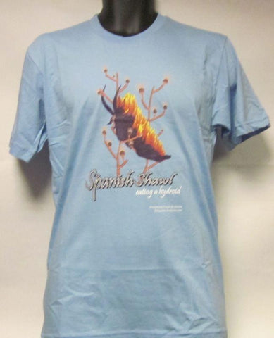 Spanish Shawl Eating A Hydroid-Blue Patterned-Men-Medium-T Shirt