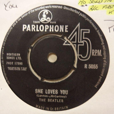 "The Beatles-She Loves You/ I'll Get You-Parlophone-7"" Vinyl"
