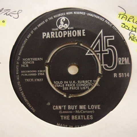 "The Beatles-Can't Buy Me Love/ You Can't Do That-Parlophone-7"" Vinyl"