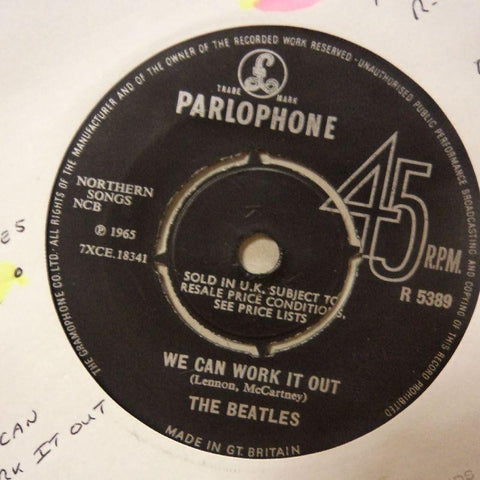 "The Beatles-We Can Work It Out/ Day Tripper-Parlophone-7"" Vinyl"