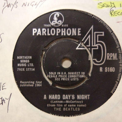 "The Beatles-A Hard Day's Night/ Things We Said Today-Parlophone-7"" Vinyl"
