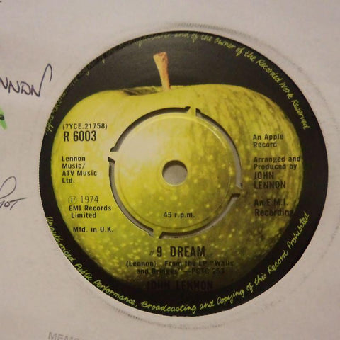 "John Lennon-9 Dream/ What You Got-Apple-7"" Vinyl"