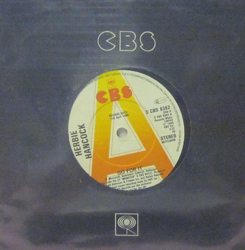 "Herbie Hancock-Go For It-CBS-7"" Vinyl"