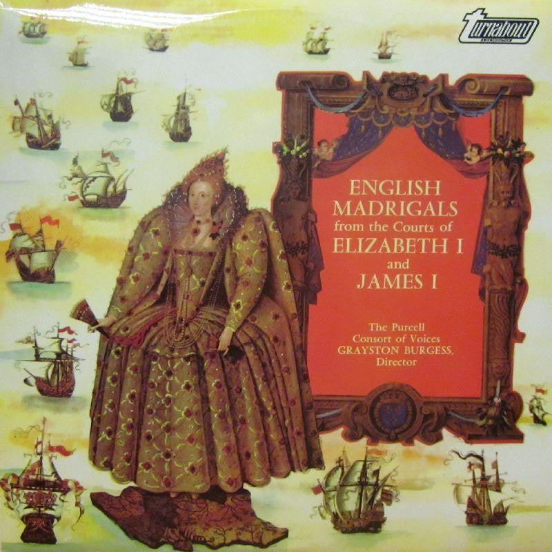 The Purcell Consort of Voices-English Madrigals From The Courts Of Elizabeth I & James I-Turnabout-Vinyl LP