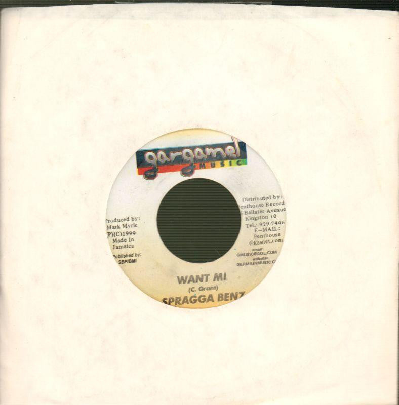 "Spragga Benz-Want Mi-Gargamel Music-7"" Vinyl"